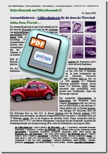 Automobilindustrie – Schlüsselindustrie für die deutsche Wirtschaft TEXT
