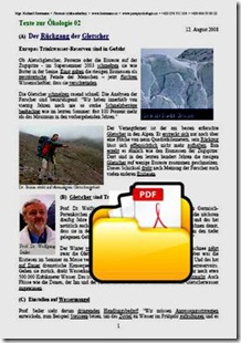 Der Rückgang der Gletscher TEXT