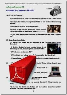 Geschichte des Computers FRAGEN