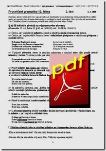 Gramatické cvičení 12. lekce