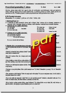 Gramatické cvičení 7. lekce
