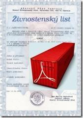 Živnostenský list - Výuka - IKON 002