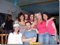 Na party se svými studenty po úspěšné zkoušce ZMP, 2006