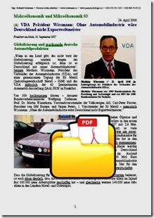 Ohne Automobilindustrie wäre Deutschland nicht Exportweltmeister