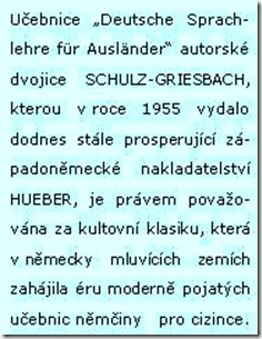 SCHULZ-GRIESBACH -Deutsche Sprachlehre für Ausländer, Geschichte
