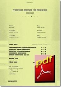 ZDfB-Zertifikat Deutsch für den Beruf-B2